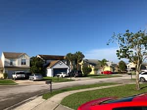 Blue Sky In A Florida Suburb