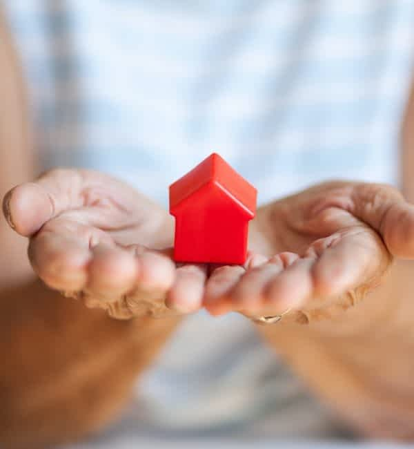 Elderly woman and her property inheriting a house probate